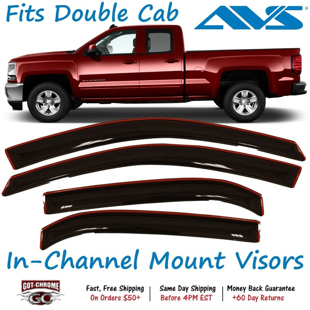 194528 AVS In-Channel Vent Visor Rain Guards For Silverado