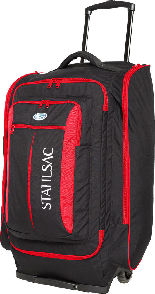 stahlsac caicos cargo pack wheeled scuba diving roller travel gear bag red ebay