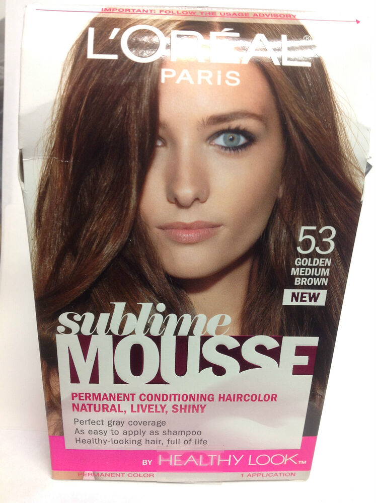 L Oreal Sublime Mousse By Healthy Look Hair Color Golden Medium Brown 53 Ebay