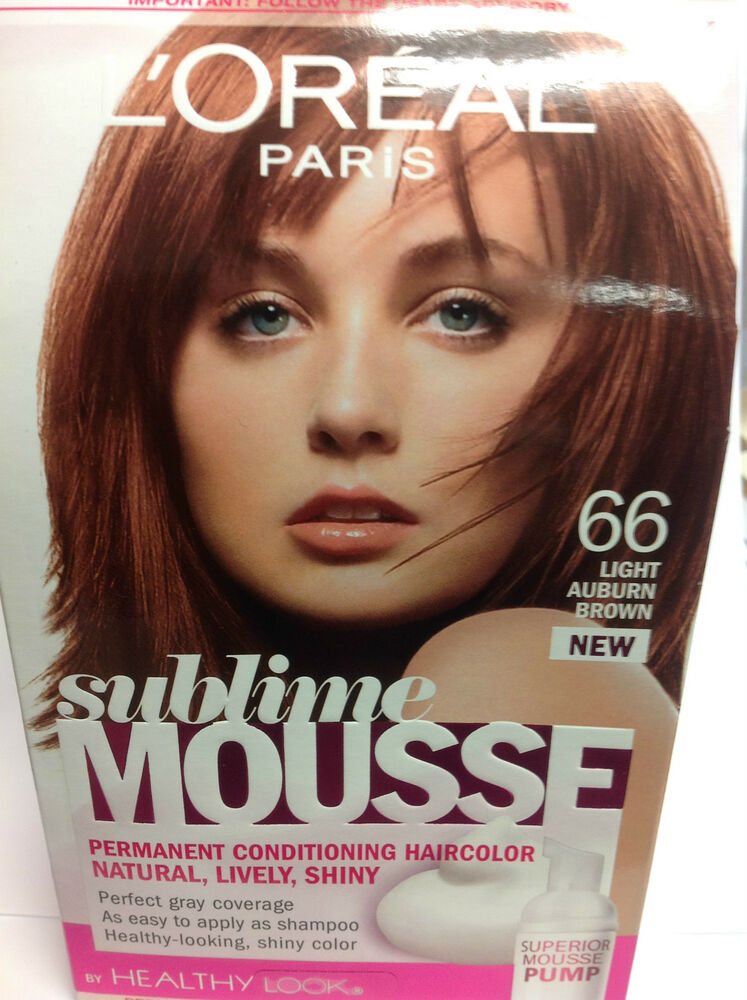 Loreal Sublime Mousse By Healthy Look Hair Color Light Auburn