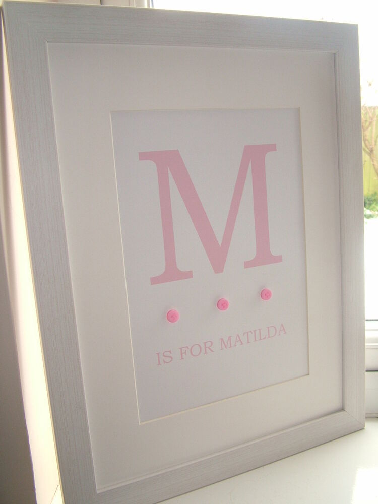 Baby Boy Bedroom Gifts: PERSONALISED GIRL WALL ART PRINT CHRISTENING GIFT BABY