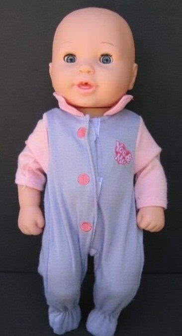 14 u0026quot  you  u0026 me baby doll pink sleeper blue eyes geoffrey toys r us b137