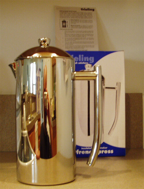 frieling usa french press 0101 1 2 cup coffee press stainless steel coffee maker 728547001013 ebay. Black Bedroom Furniture Sets. Home Design Ideas