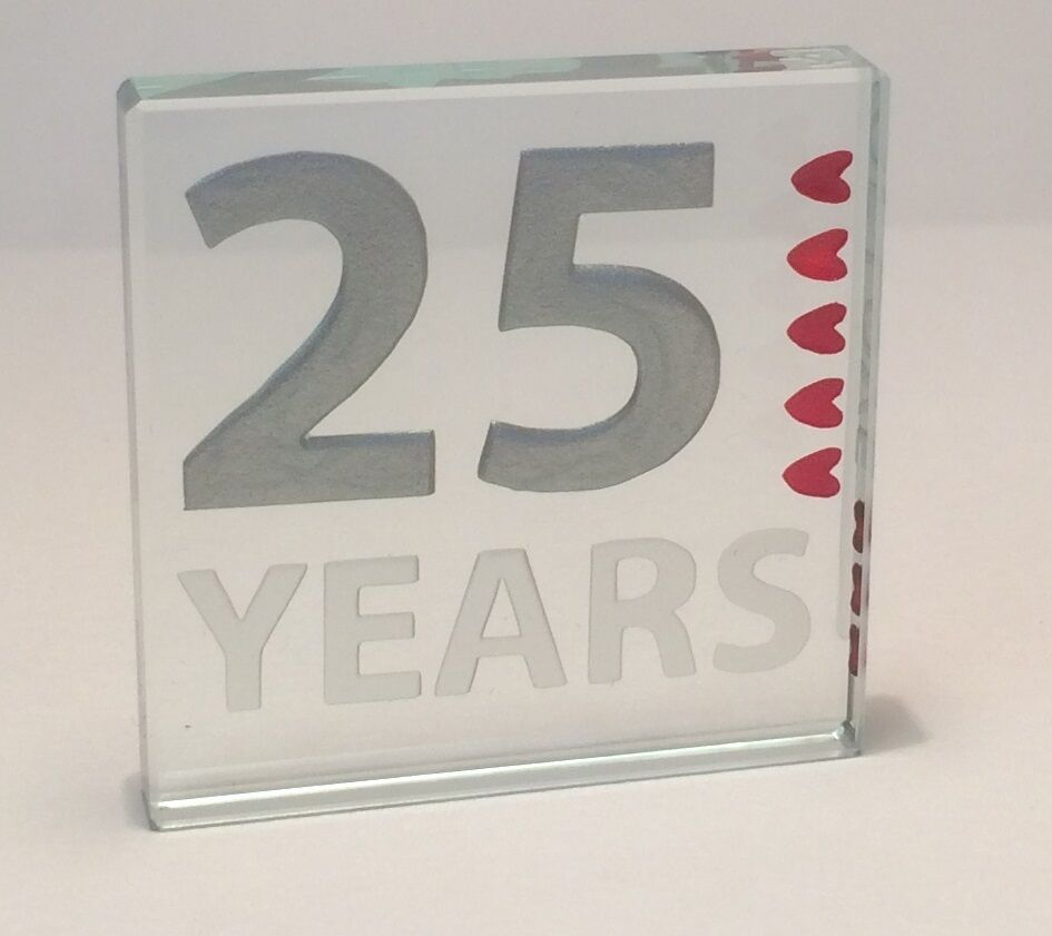 25th Silver Wedding Anniversary Spaceform 25 Years Of Love
