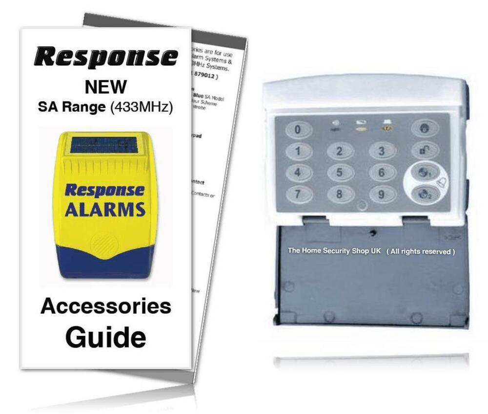 response alarm wirefree keypad sakp e 433mhz response alarms sa guide included ebay. Black Bedroom Furniture Sets. Home Design Ideas