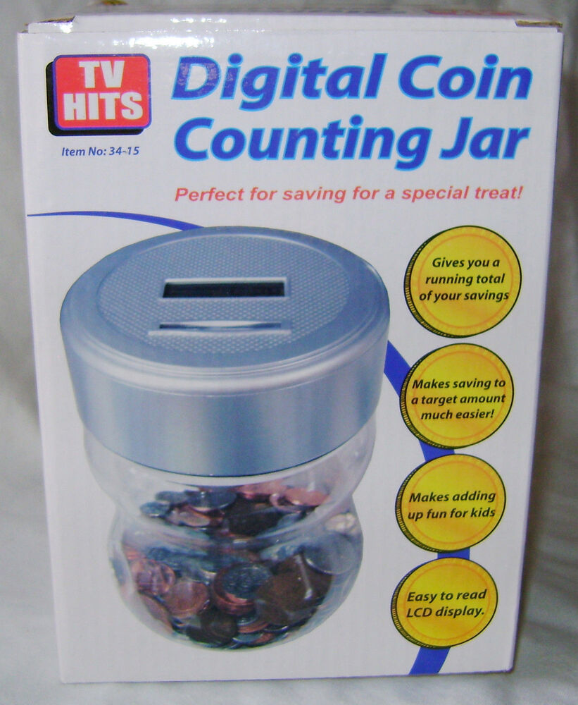 New digital coin counting jar money bank lcd display running total sh 34 sale ebay - Coin bank that counts money ...