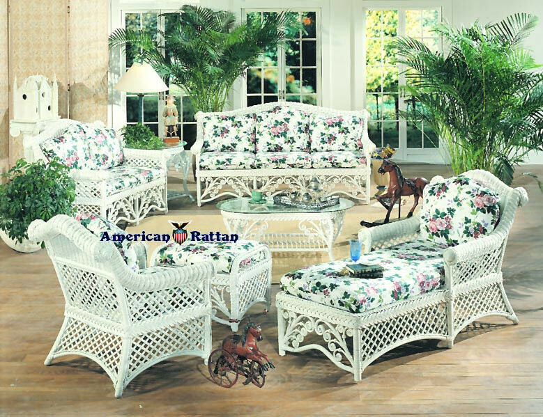 Gazebo Indoor Wicker And Rattan 5 Pc Living Room Set From Spice Island Wicker Ebay