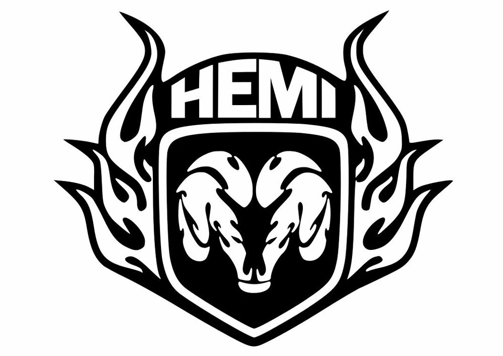 dodge tribal rams head hemi vinyl decal sticker 12 x 10. Black Bedroom Furniture Sets. Home Design Ideas