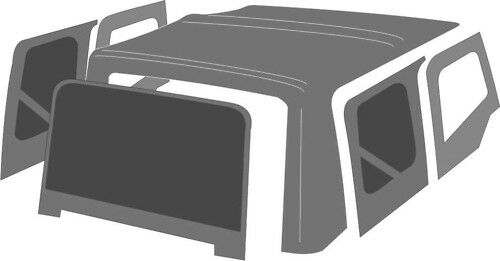 Spice 1988 1995 Jeep Wrangler Yj Replacement Soft Top