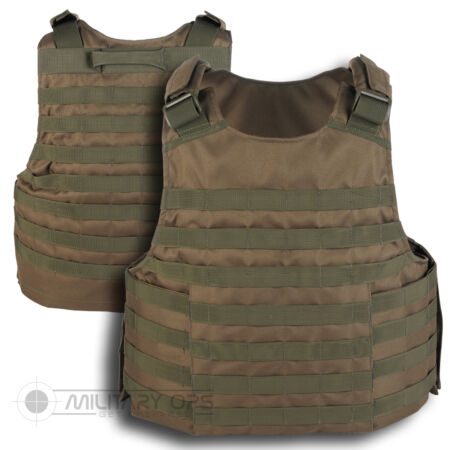 img-MOLLE TACTICAL ASSAULT VEST BASE PLATE CARRIER OLIVE GREEN PALS