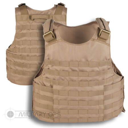 img-MOLLE TACTICAL ASSAULT VEST BASE PLATE CARRIER SAND COYOTE PALS