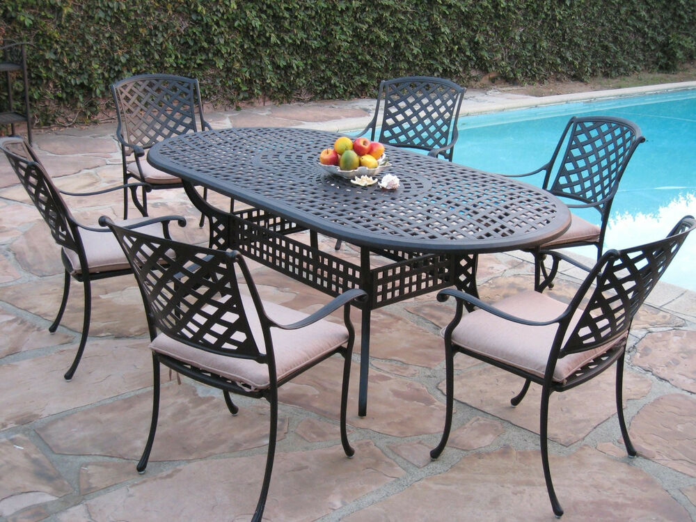 Kawaii collection outdoor cast aluminum patio furniture 7 for Outdoor patio set