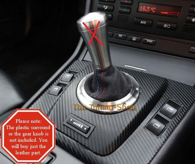 Fits Bmw E46 M3 Smg Automatic Custom Gear Boot Black Suede
