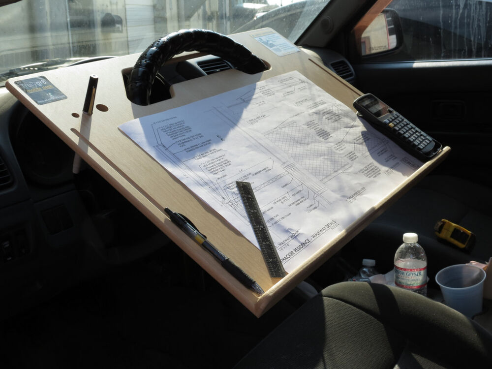 Car laptop tablet notepad contractor steering wheel desk ebay - Notepad holder for car ...