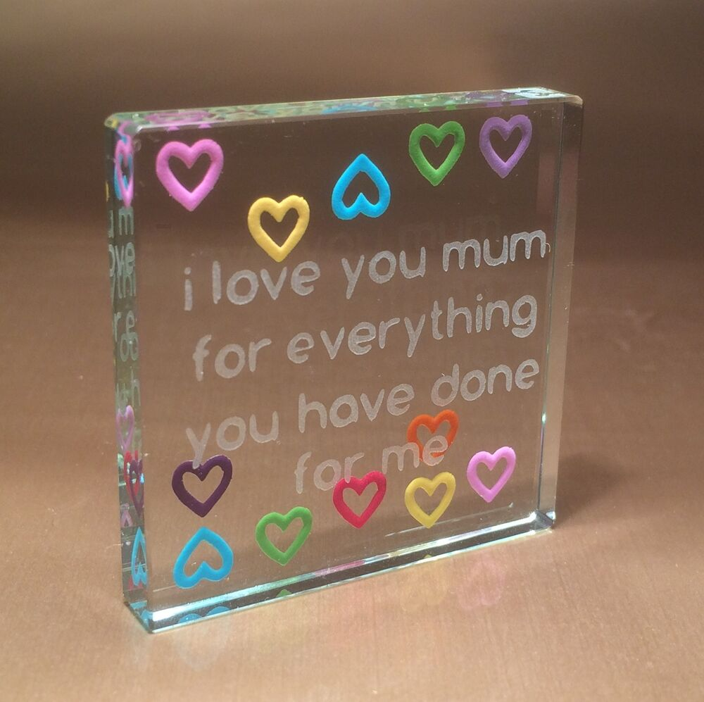 Spaceform Multi Hearts Mum Token Gift Ideas For Birthday