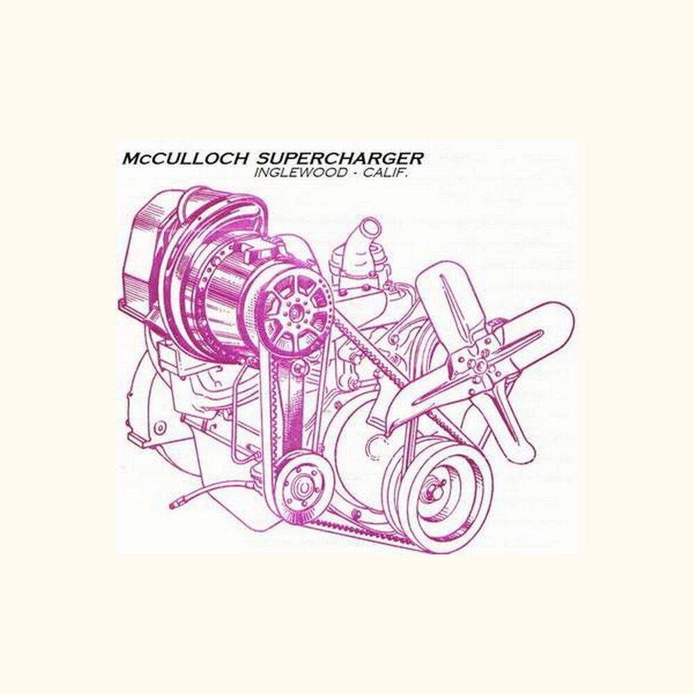 Vortech V1 Supercharger 2002 Mustang Gt: McCulloch Paxton Supercharger Rebuild Serv Repair Manual