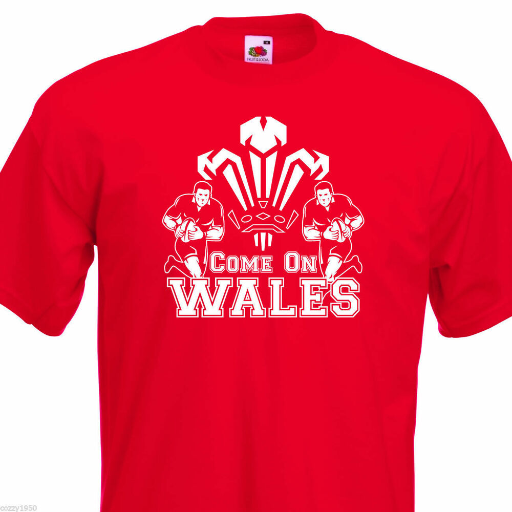 Come On Wales Funny Nations Rugby T Shirt 6 Colours 8