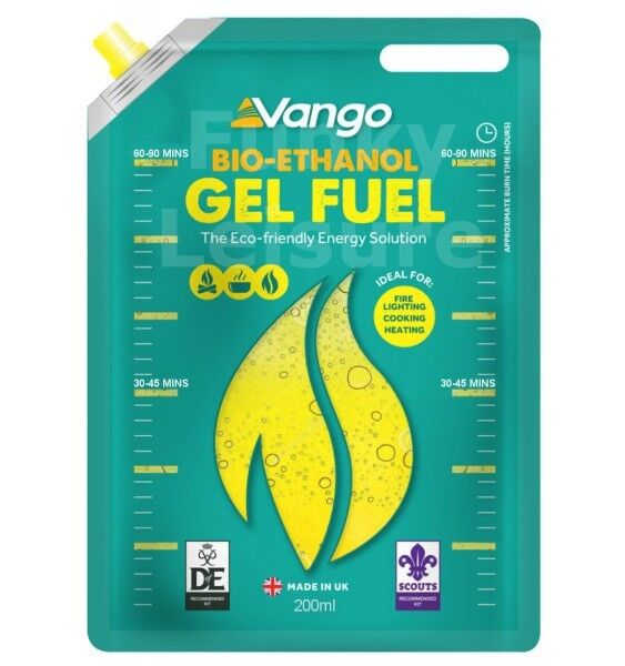 vango eco bio ethanol cooking fuel 200ml gel sachet ebay. Black Bedroom Furniture Sets. Home Design Ideas