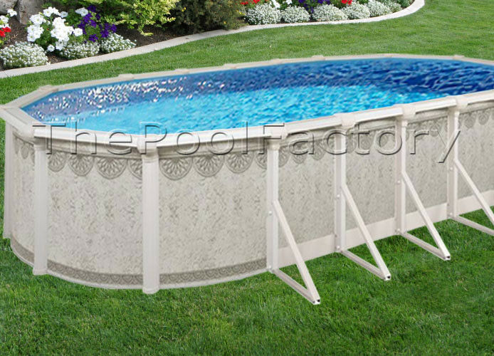 16x26x52 9 huge resin ledge hampton oval above ground for Above ground pool packages cheap