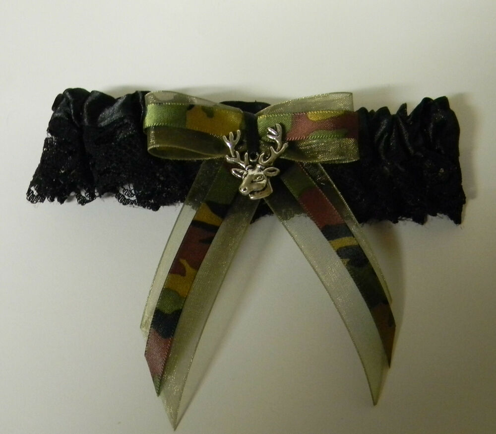 Wedding Bridal Custom Made Redneck Camo Garters Deer