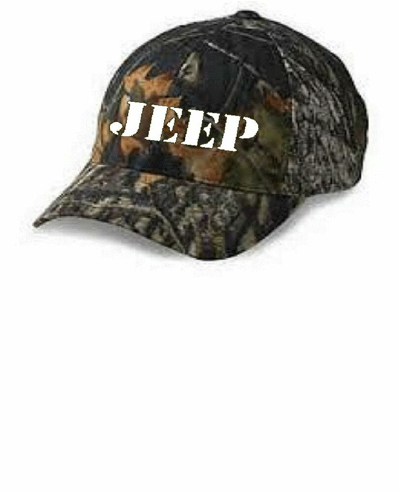 Jeep Flexfit Adult Mens Mossy Oak Cap Hunters Camouflage