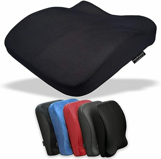 memory foam seat lumbar pain support booster car cushion chair back height gain ebay. Black Bedroom Furniture Sets. Home Design Ideas