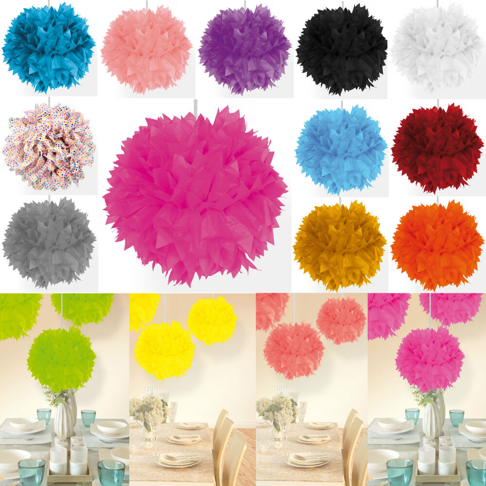 papier blume pompom d 30 cm party deko geburtstag hochzeit. Black Bedroom Furniture Sets. Home Design Ideas