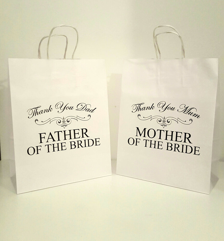 Wedding Gifts For Mother Of The Bride Uk : Mother of the Bride Thank You Mum Personalised Wedding Favour Gift Bag ...