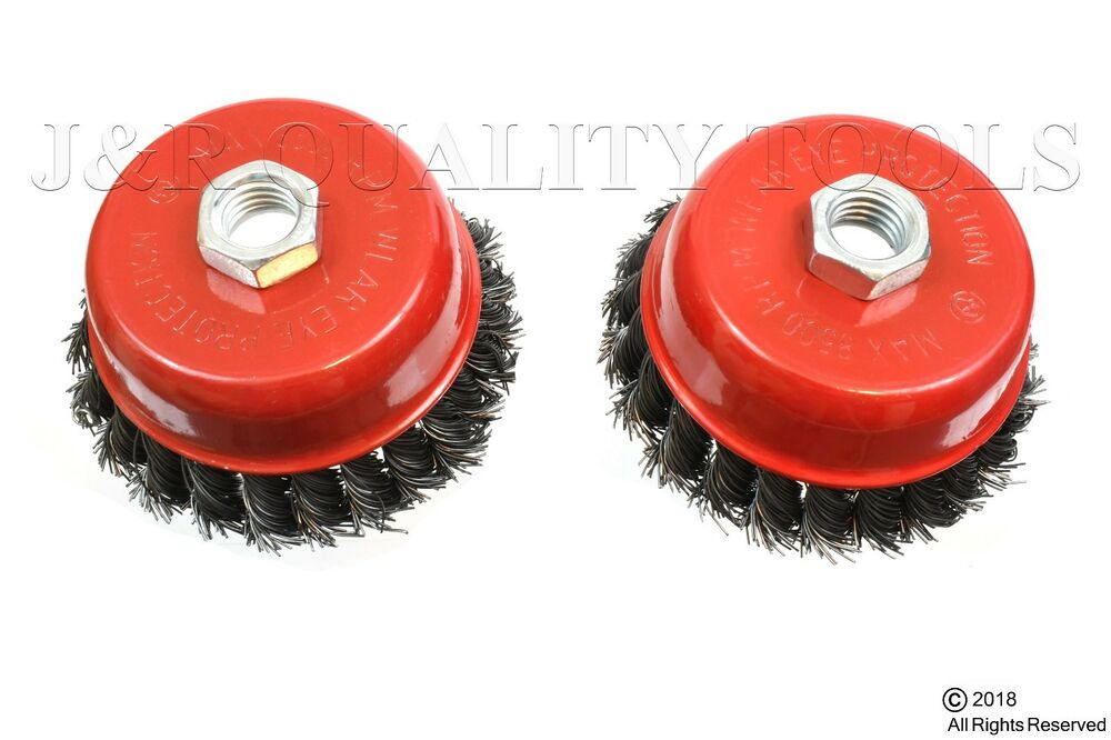 2 Pack 4 Quot Cup Knotted Wire Wheel Angle Grinder Brush Ebay