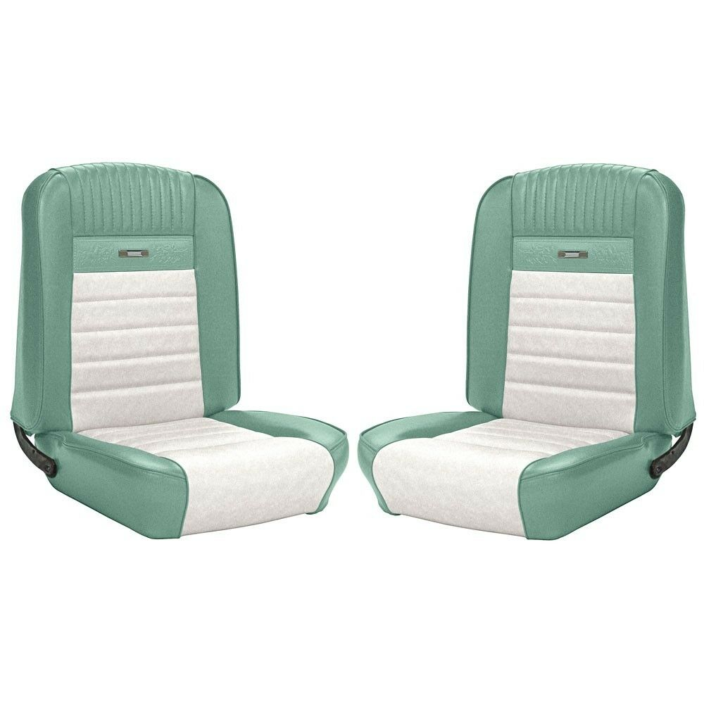 1964 1965 1966 mustang convertible front rear seat covers turquoise white pony ebay. Black Bedroom Furniture Sets. Home Design Ideas
