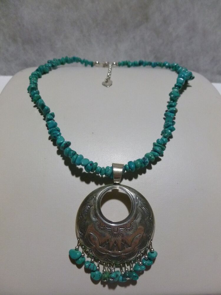 Qt Q T Sterling Silver Turquoise Southwestern Womens