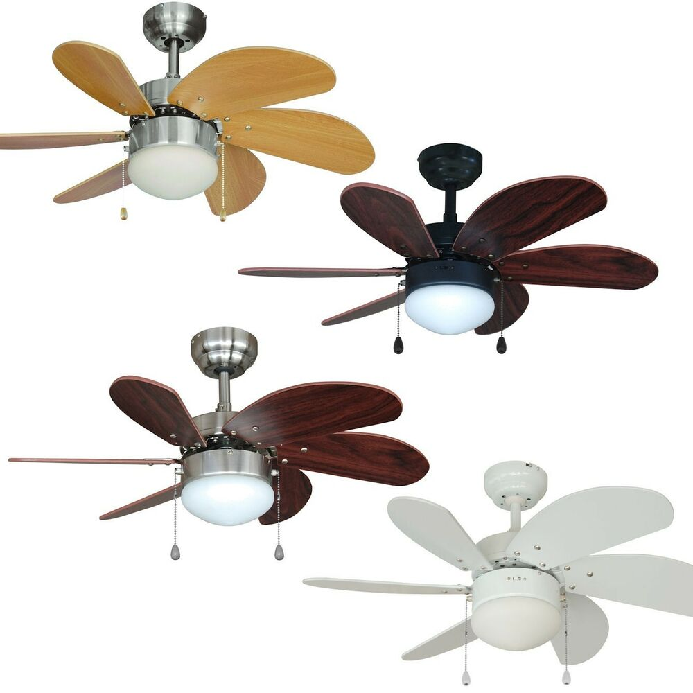 30 Inch Ceiling Fan With Light Kit Satin Nickel Oil Rubbed Bronze Or White Ebay