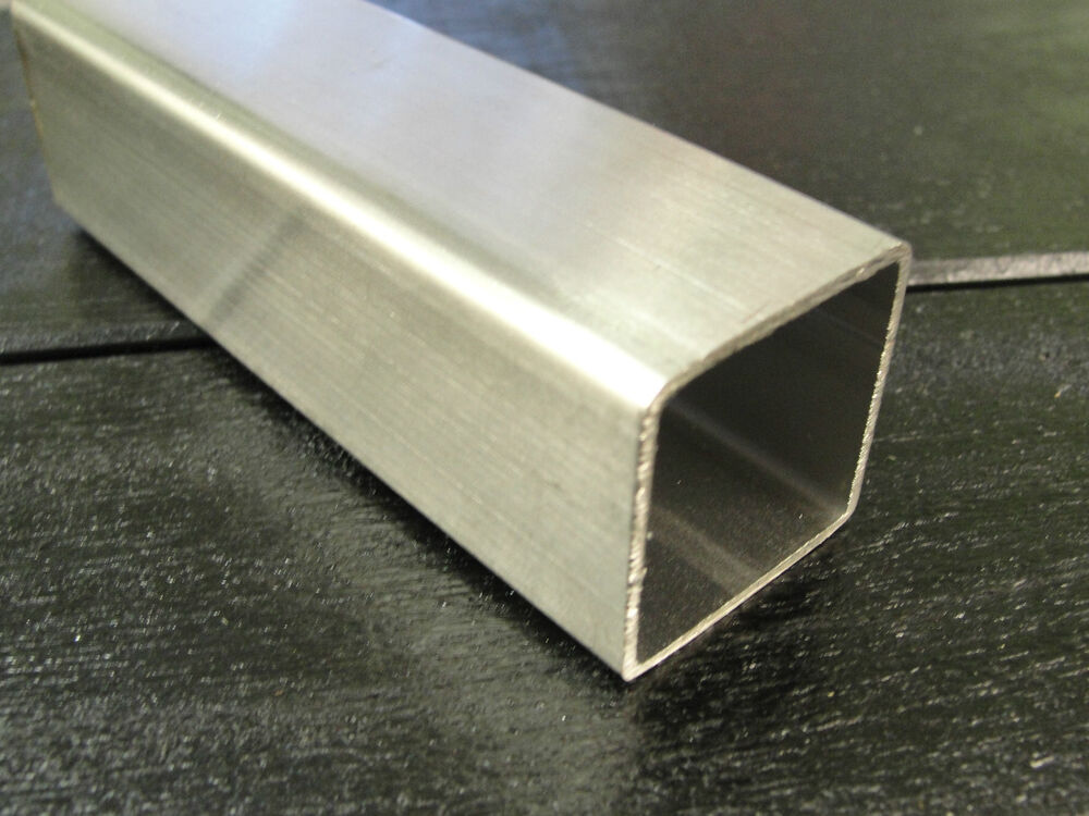 25mm Brushed Stainless Steel Square Box Section 25 X 25