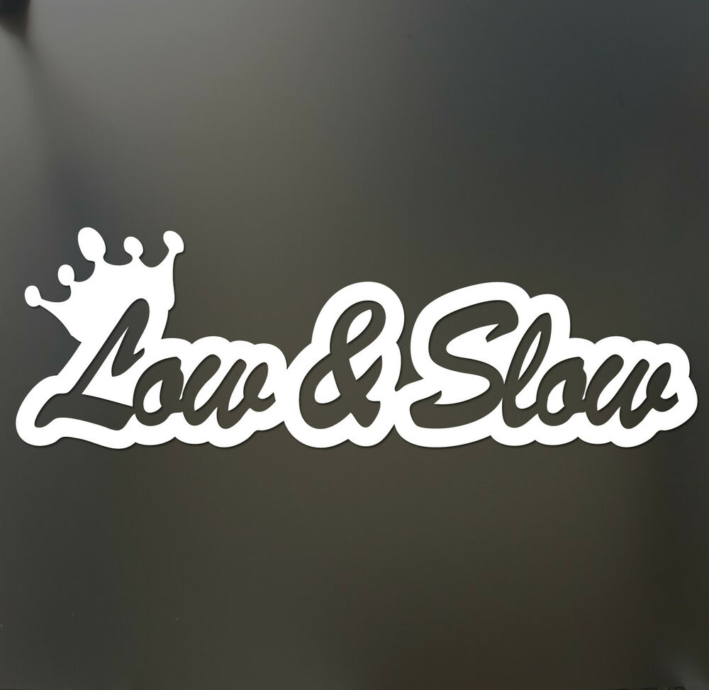 Low Amp Slow Sticker Funny Jdm Acura Honda Lowered Car Truck