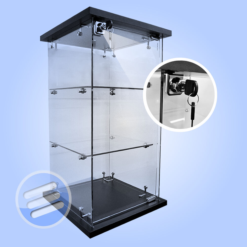 Exhibition Stand Fittings : High quality lockable counter countertop retail glass