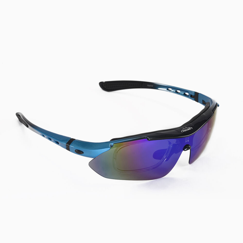 Walleva Blue Polarized Tr90 Sunglasses With Hat Clip
