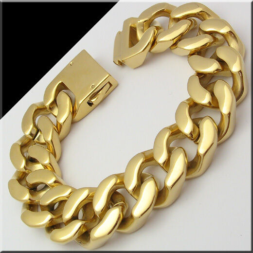 166g Heavy Men S Stainless Steel Cuban Curb Link Gold