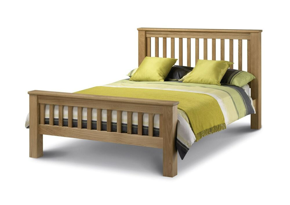 julian bowen amsterdam hfe double 4ft6 american solid oak wood bed frame 692623302809 ebay. Black Bedroom Furniture Sets. Home Design Ideas