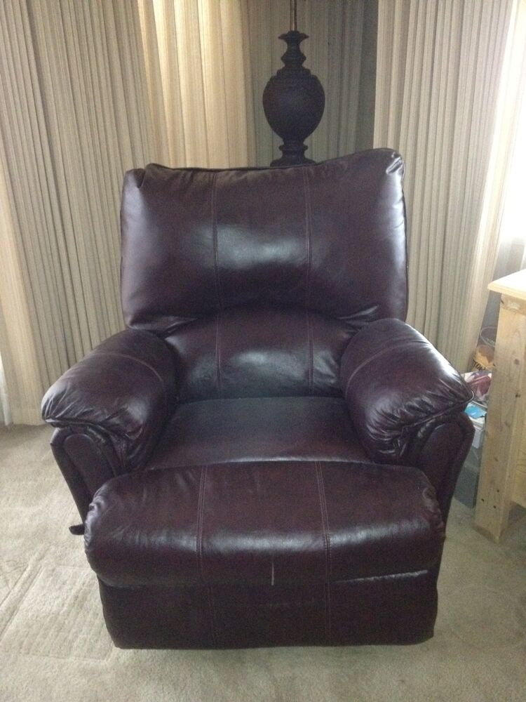 Oversized Brown Leather Recliner Ebay