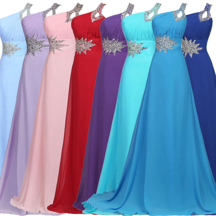 Women'S Long Chiffon Party Bridesmaid Evening Prom Ball