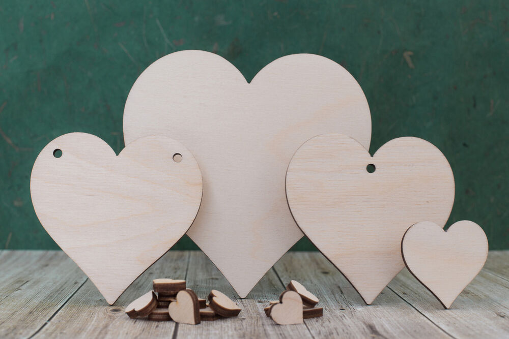 Wooden heart shape craft blank wood hearts for weddings for Wooden hearts for crafts