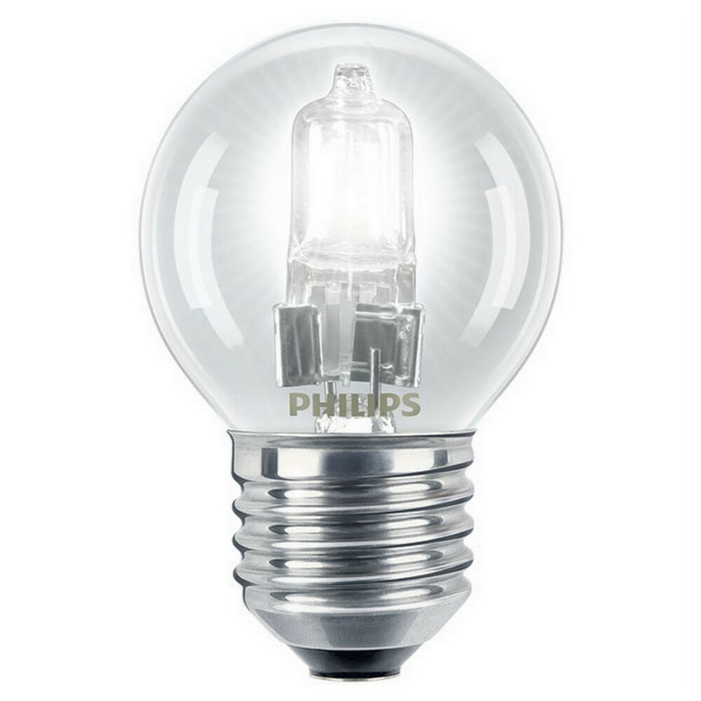 Philips EcoClassic 18w = 25w E27 Dimmable Golf Ball Globe ...