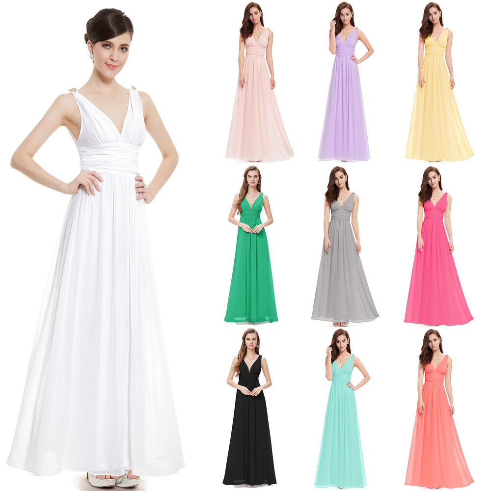 Renaissance Long Pageant Bridesmaids Evening Formal Party: New Fashion Women's Long Evening Bridesmaid Formal Dress