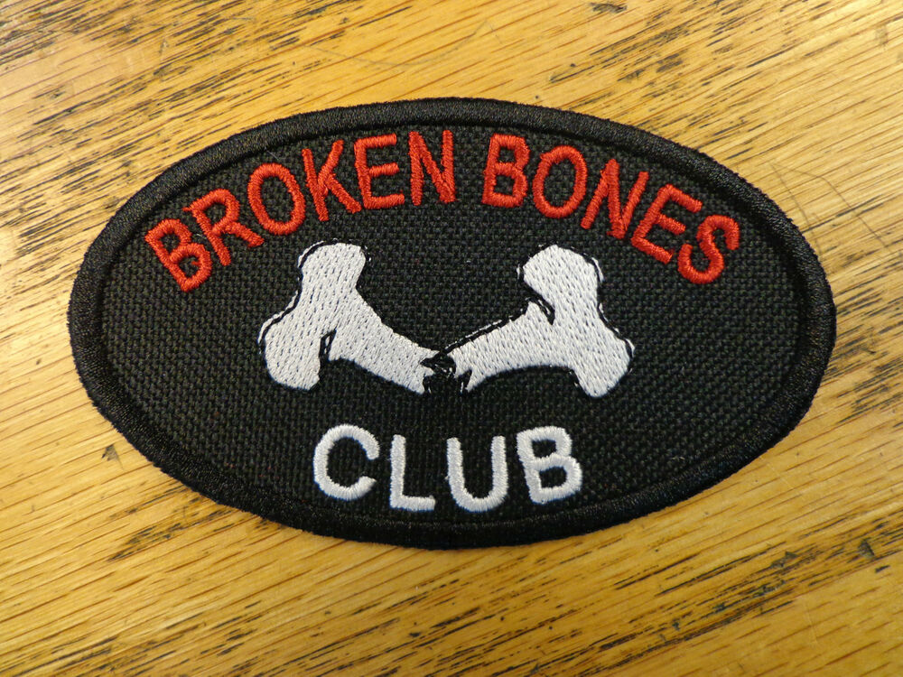 Broken bones club embroidered patch vest outlaw mc