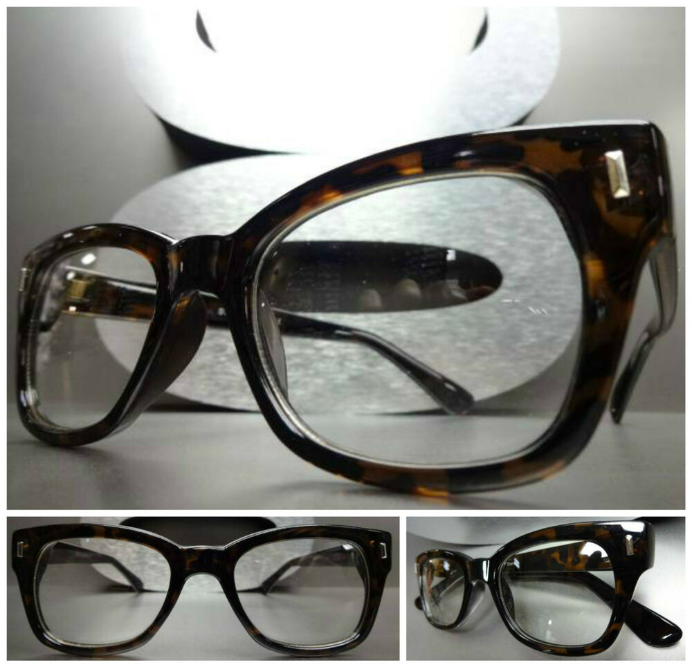 CLASSIC VINTAGE RETRO Style Clear Lens EYE GLASSES Thick ...