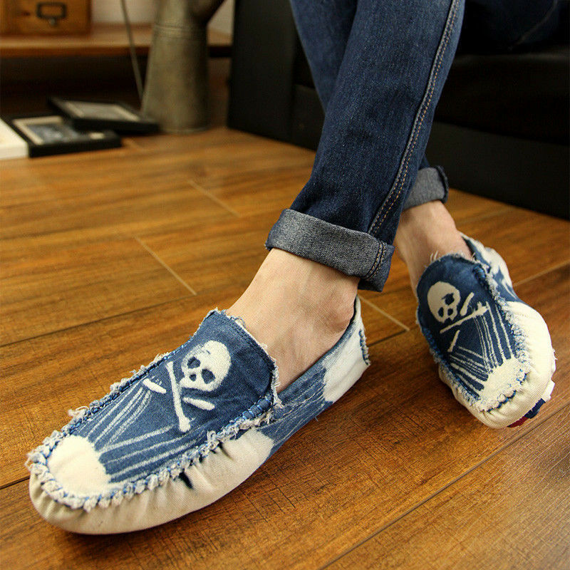 cowboy casual jean cloths slip on loafer shoes sneaker