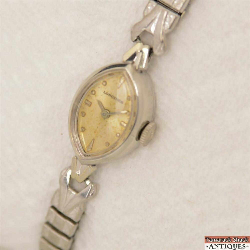 1962 longines marquise white 10k gold filled