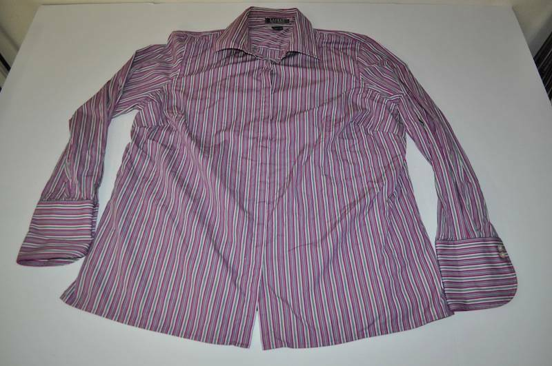 Lauren ralph lauren purple green white striped dress shirt for Purple striped dress shirt