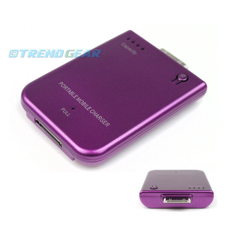 battery charger for iphone 2800mah portable external purple battery mobile charger 13551