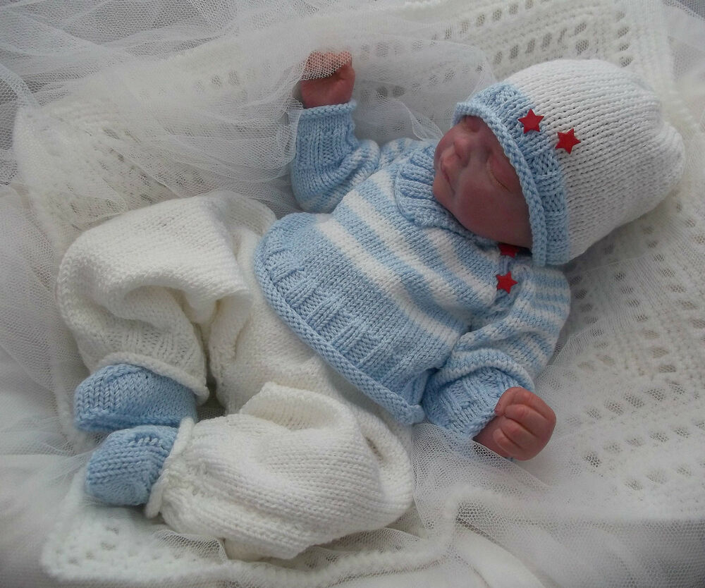 Free Teddy Knitting Patterns : DK Baby Knitting Pattern #46 TO KNIT Boys or Reborn Dolls Clothes eBay